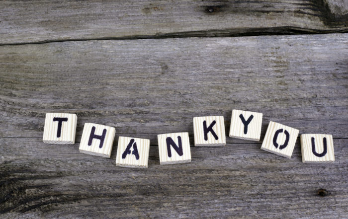 Ten Ways to say thank you